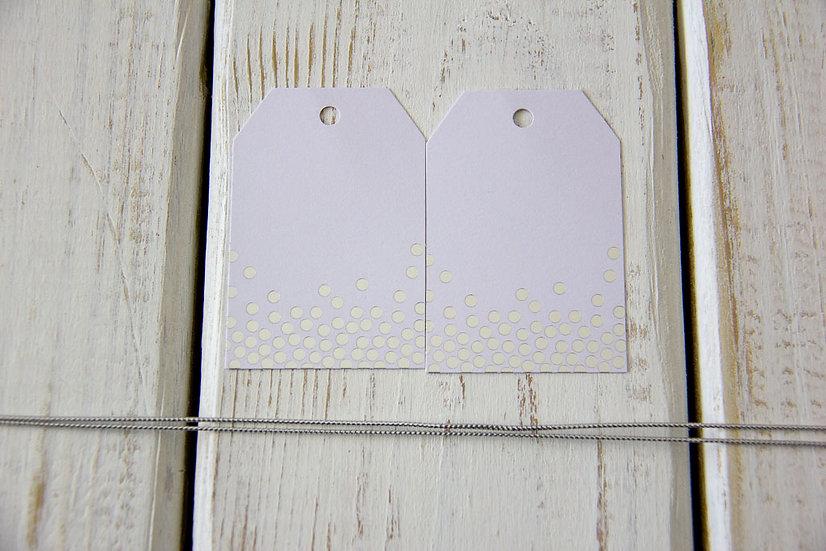 Silver Dot White Gift Tags