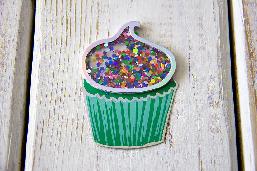 Cupcake Confetti Shaker