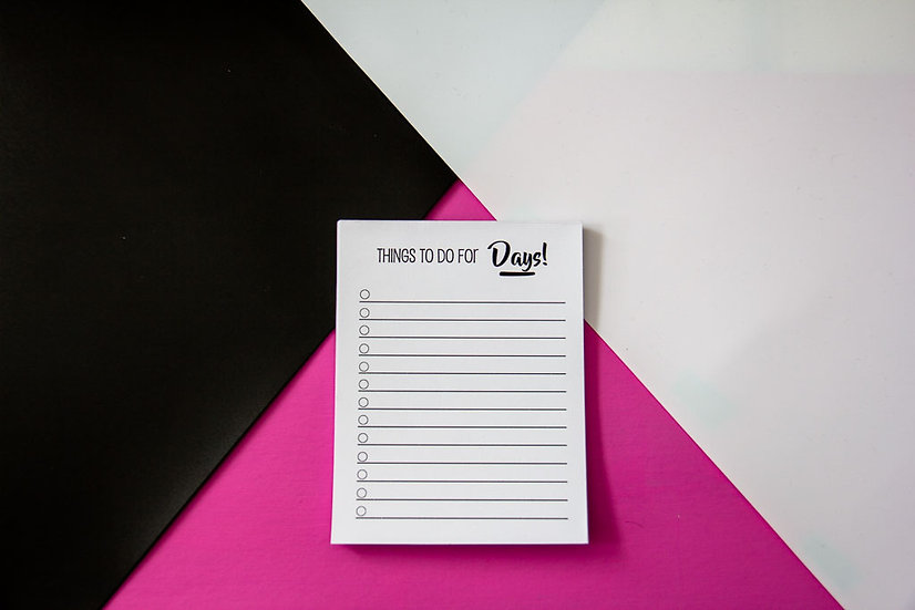 Things To Do For Days Notepad - Premium