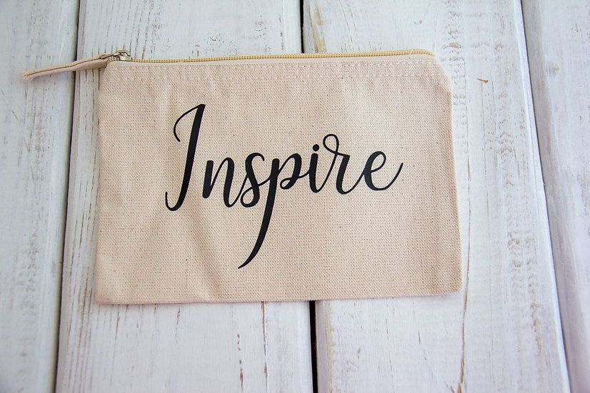 Inspire - Canvas Pencil Pouch