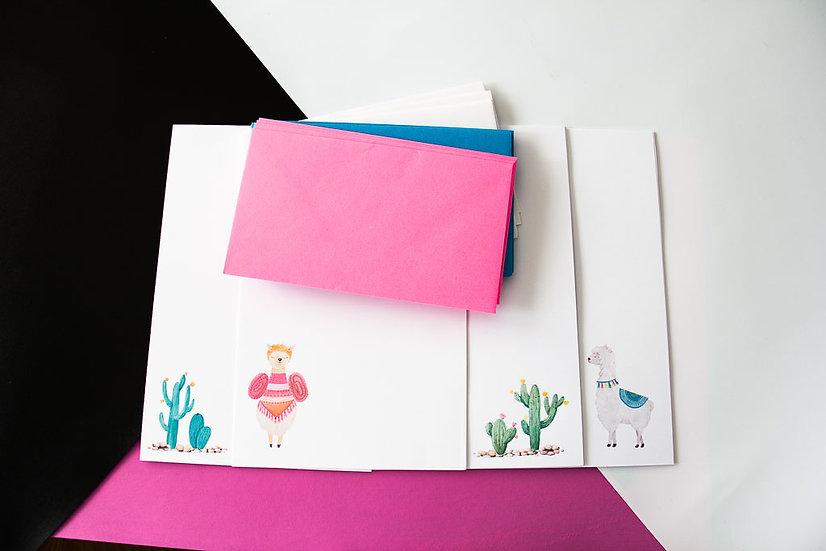 Llamas & Cactus - Stationery Set