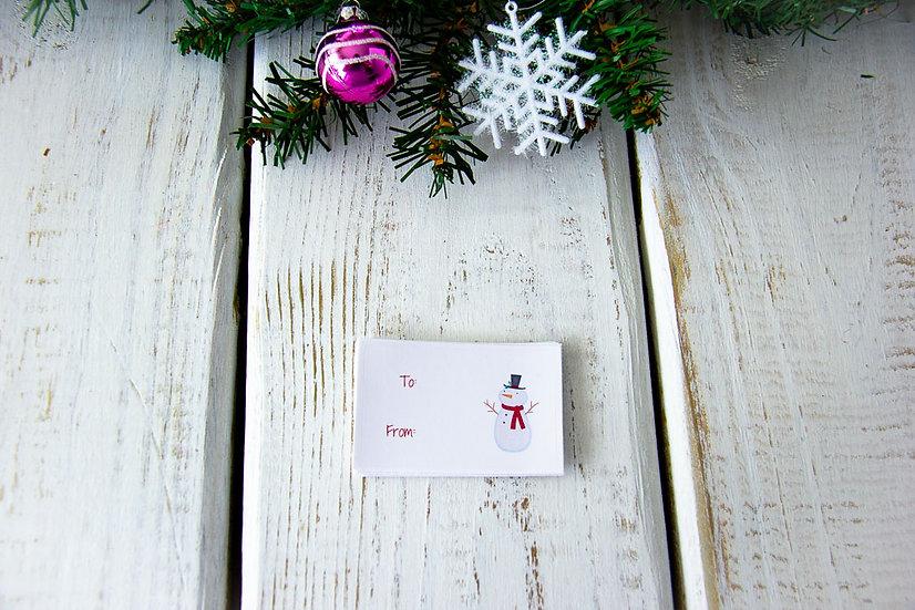 Snowman - Adhesive Gift Tags