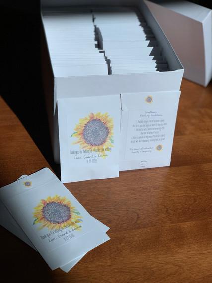 Sunflower Seed Packets - Wedding