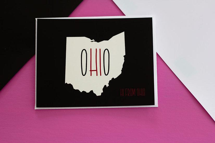 Hi From Ohio - Postcard
