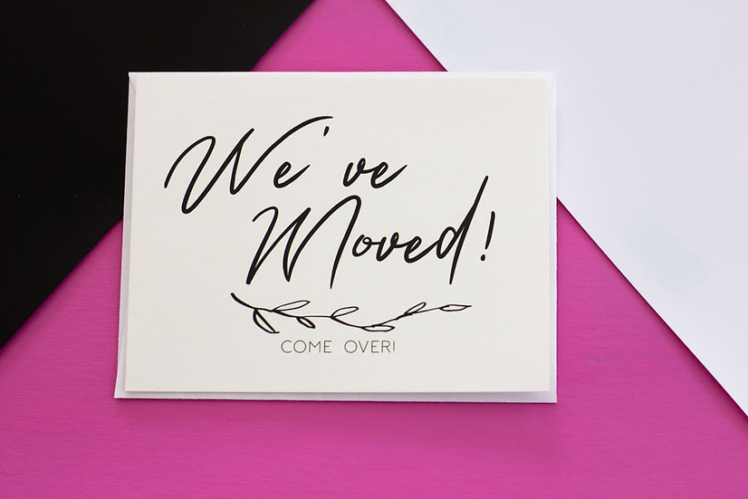 We've Moved - Post Cards