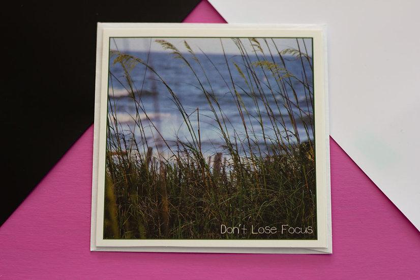 Don't Lose Focus - Square Greeting Card