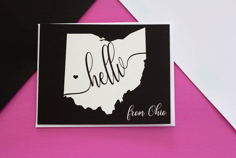 Hello From Ohio - Postcard