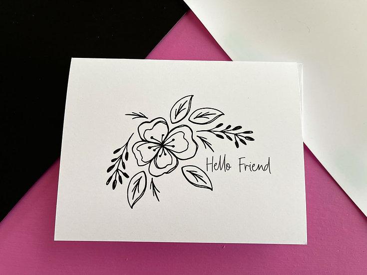 Hello Friend Note Card