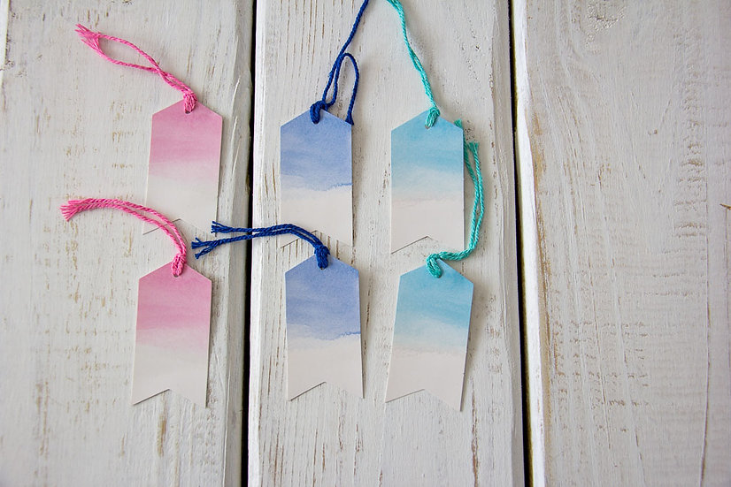 Assorted Watercolor Gift Tags
