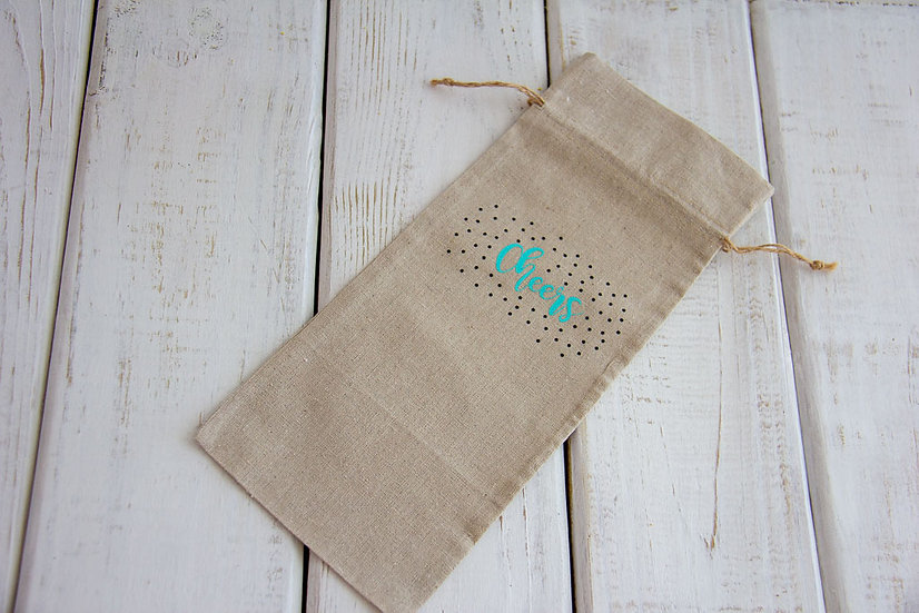 Cheers - Canvas Alcohol Gift Bag