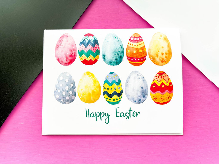 Easter Eggs Note Card