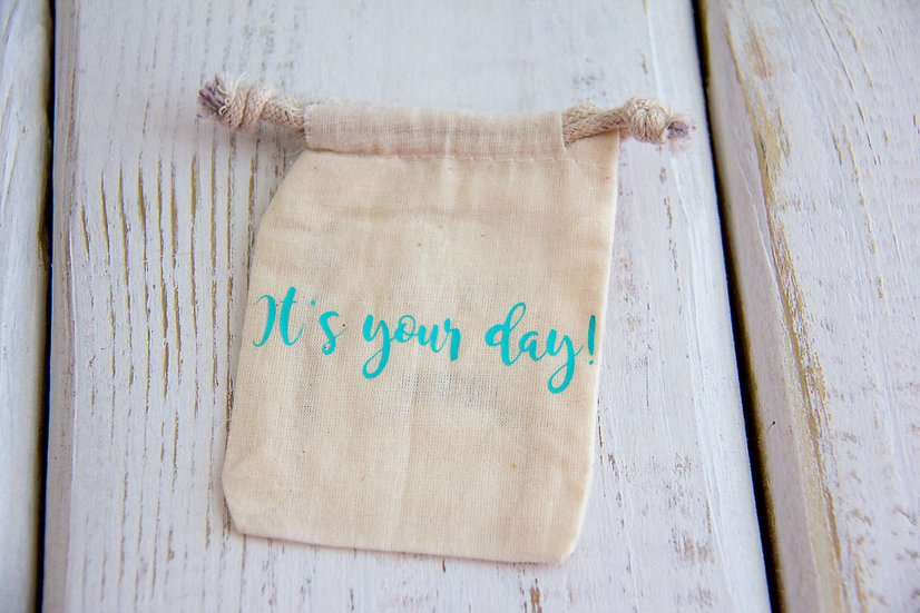 It's Your Day! - Muslin Gift Card Pouch