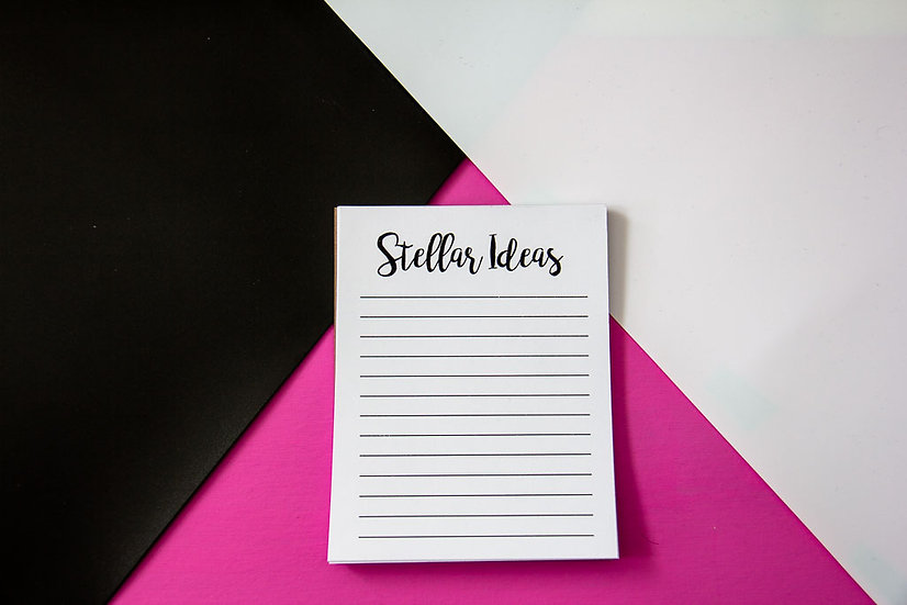 Stellar Ideas Notepad - Premium