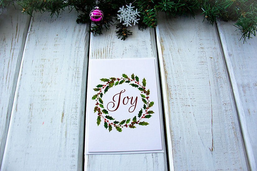 Joyful Christmas Greeting Card