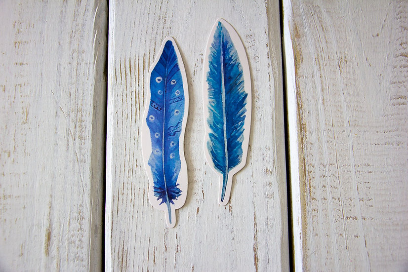Feather Bookmarks - 2 Pack
