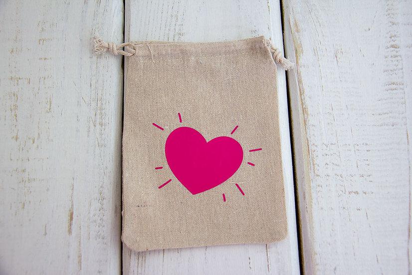 Heart - Canvas Medium/Tall Pouch