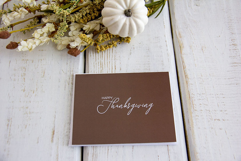 Happy Thanksgiving - Note Card