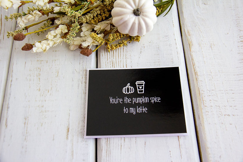 Pumpkin Spice Latte - Post Card