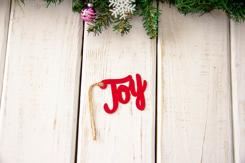 Joy Metal Tag - Gift Embellishment