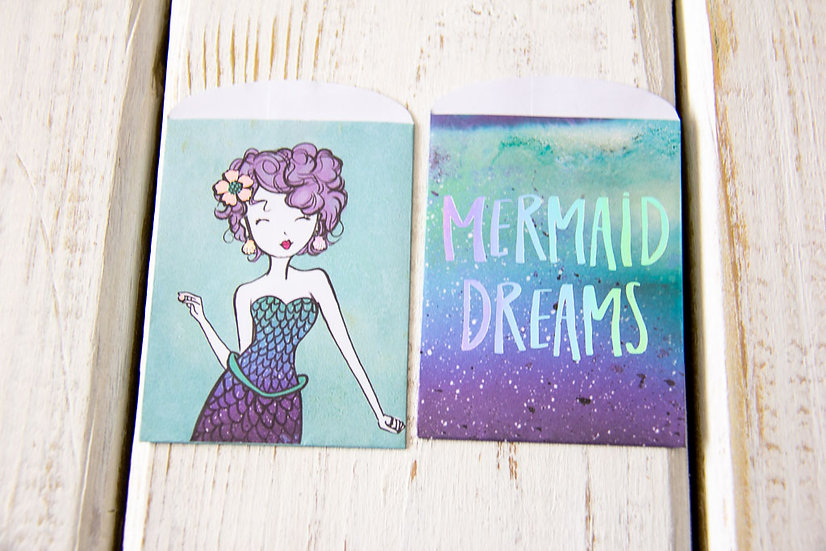 Mermaid Paper Gift Card Bags