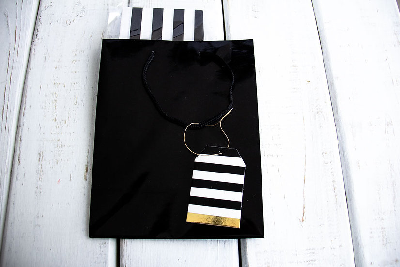 Medium Gift Bag with Tissue - Black