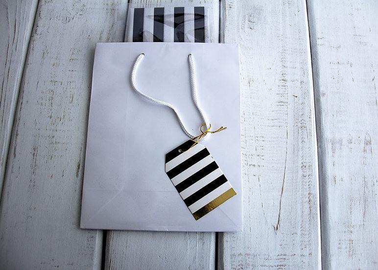 Medium Gift Bag with Tissue - White