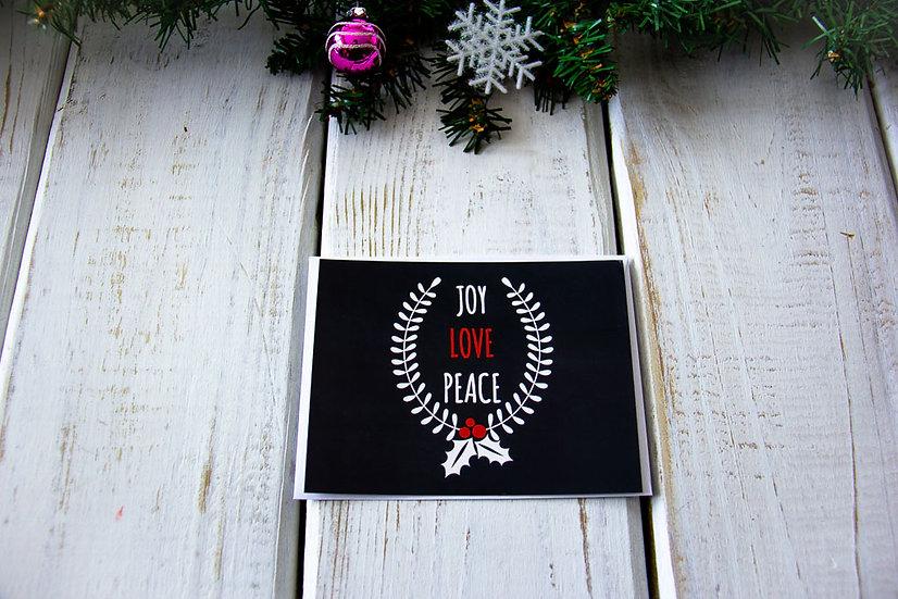 Joy Love Peace Postcard