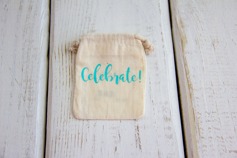 Celebrate - Muslin Gift Card Pouch