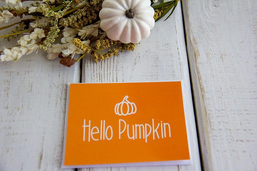 Hello Pumpkin - Postcard