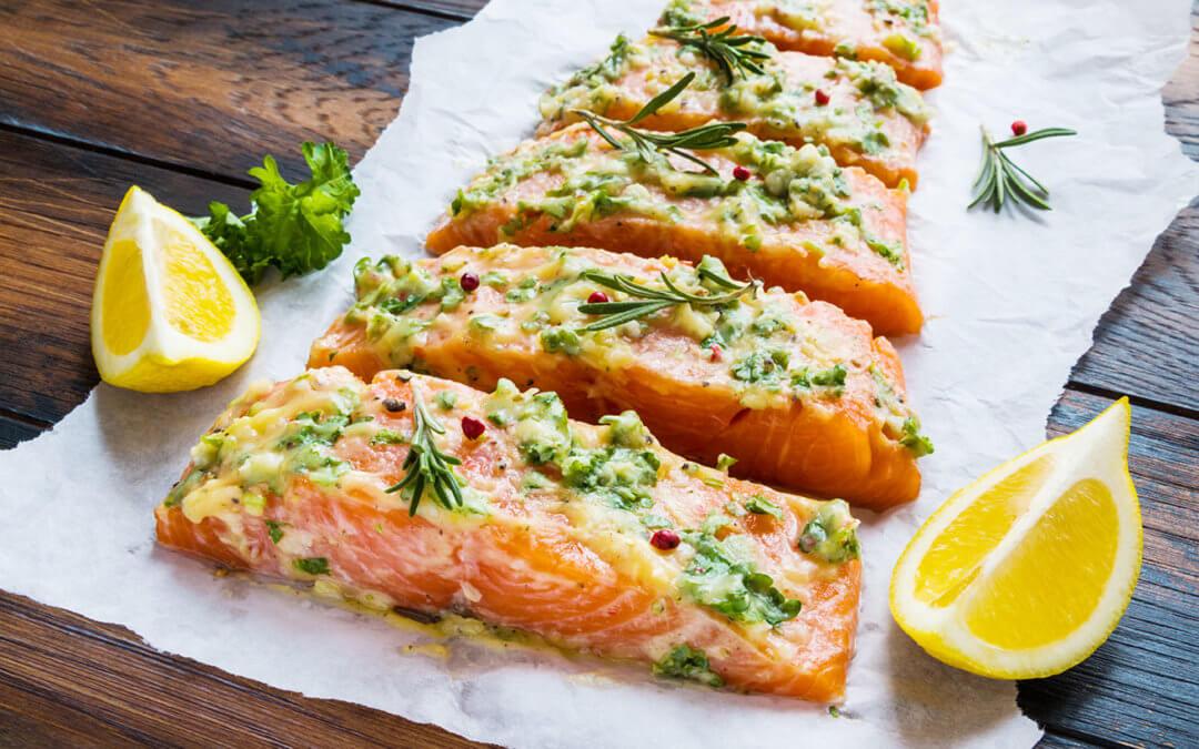 Dill and lemon honey salmon