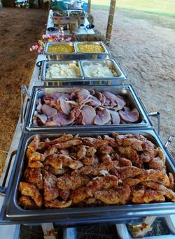 bbq buffet line