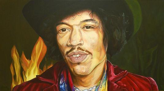 oilpainting of Jimi Hendrix
