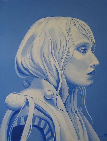 Meisje in blauw