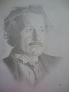 drawing of Albert Einstein