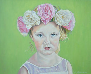 oilpainting of flowergirl