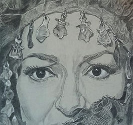 drawing of Maria Callas