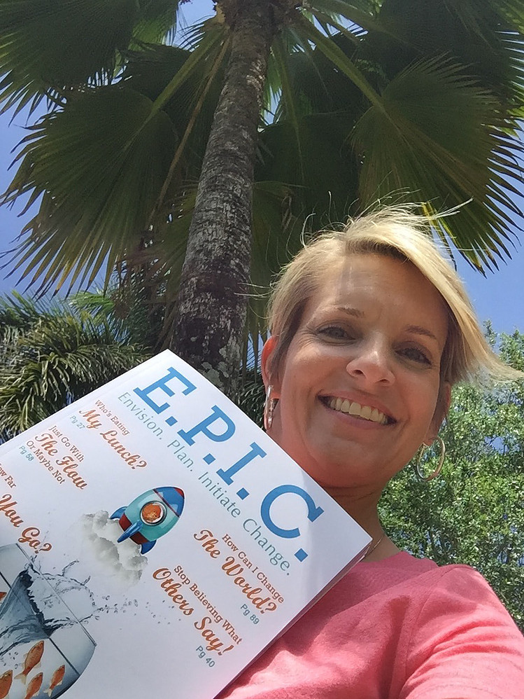 Melissa with the E.P.I.C. Guidebook