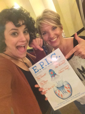 Melissa & Brittany with the E.P.I.C. Guidebook
