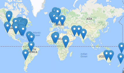 Global Community Network Map