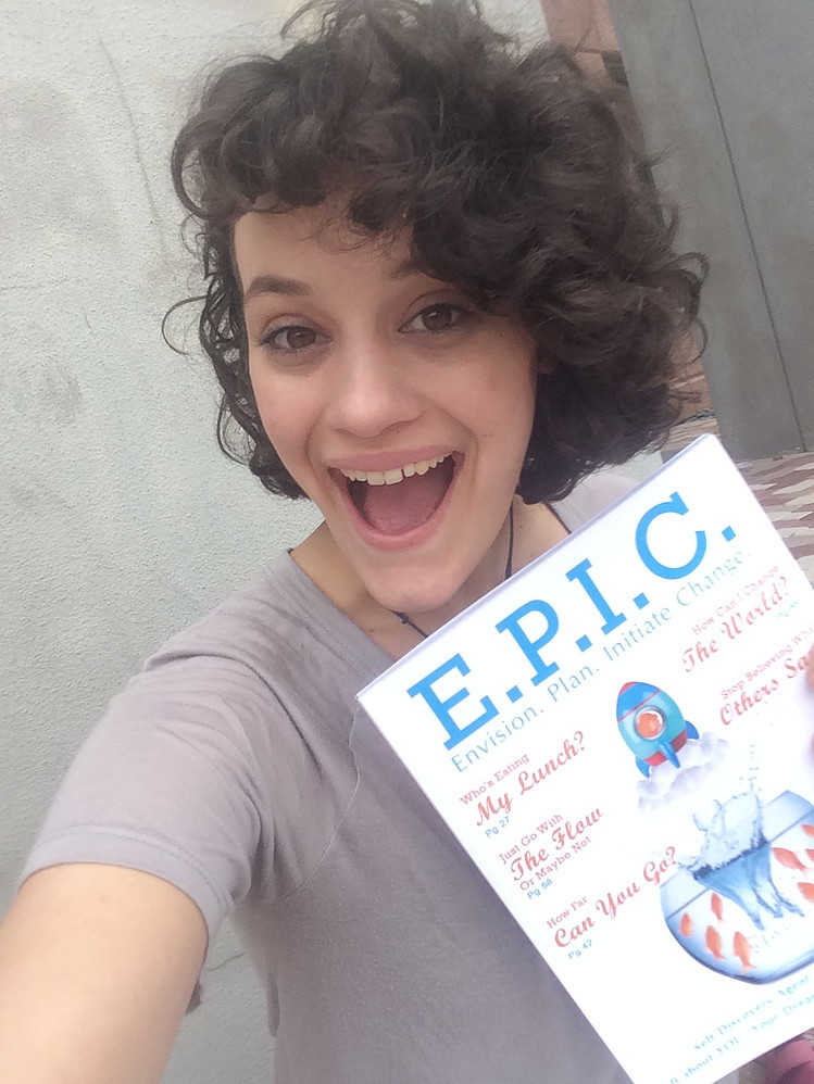 Brittany with the E.P.I.C. Guidebook