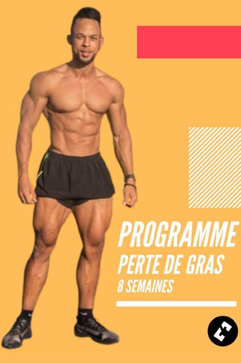 PROGRAMME PERTE DE GRAS 8 SEMAINES - EDITION 1
