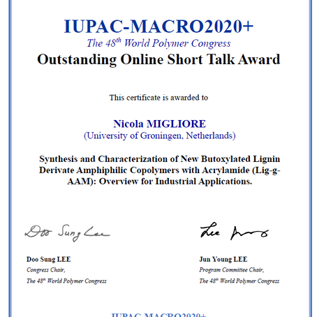 Our PhD student Nicola Migliore awarded for Outstanding Online Short Talk @ Macro 2020+