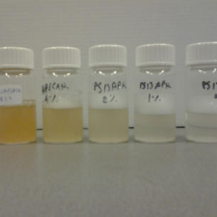 polymeric surfactant at various concentrations in water