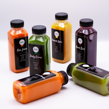 FRESHLY SQUEEZED, RAW JUICES