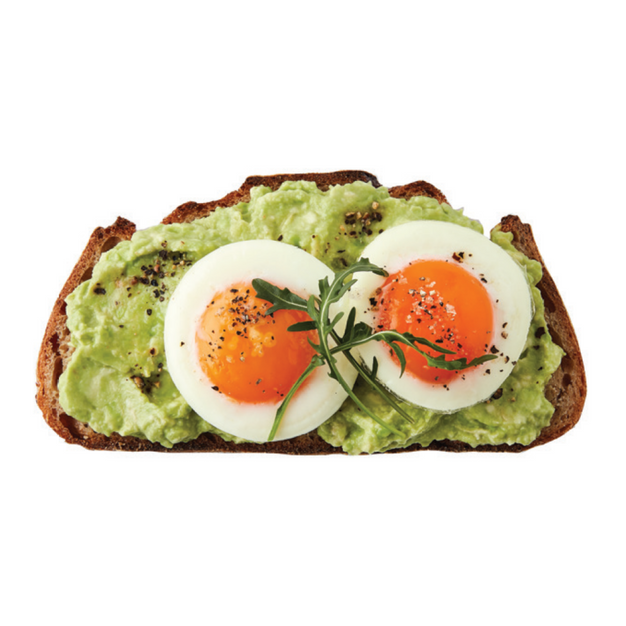 SMASHED AVO & POACHED EGGS