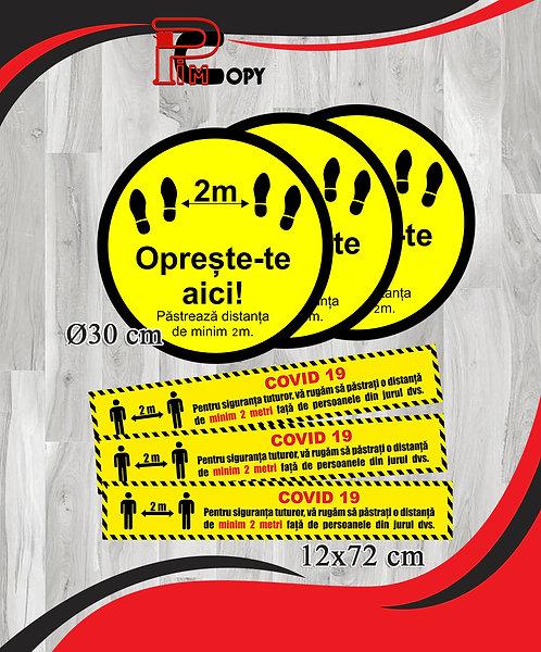 Stickere podea - Set 3 buline si 3 dungi