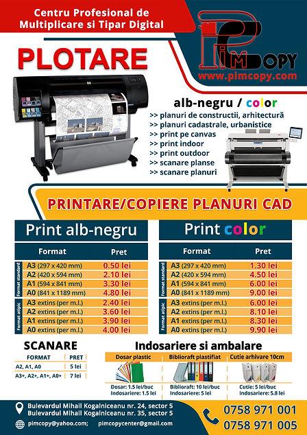 oferta promotionala plotare planuri CAD