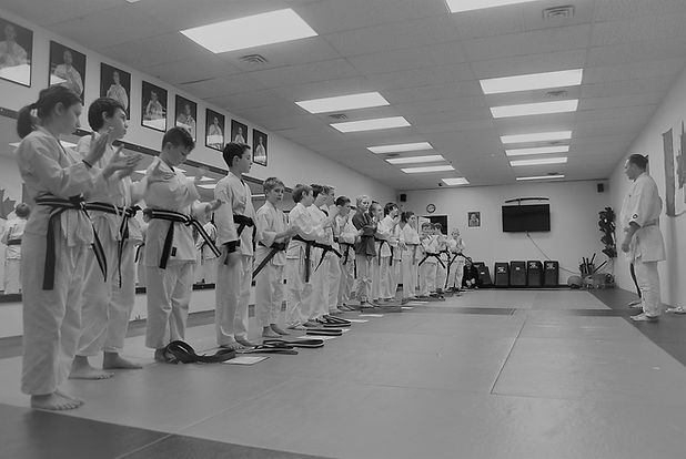 group of 10-13 year old hiscoe Jiu-Jitsu students