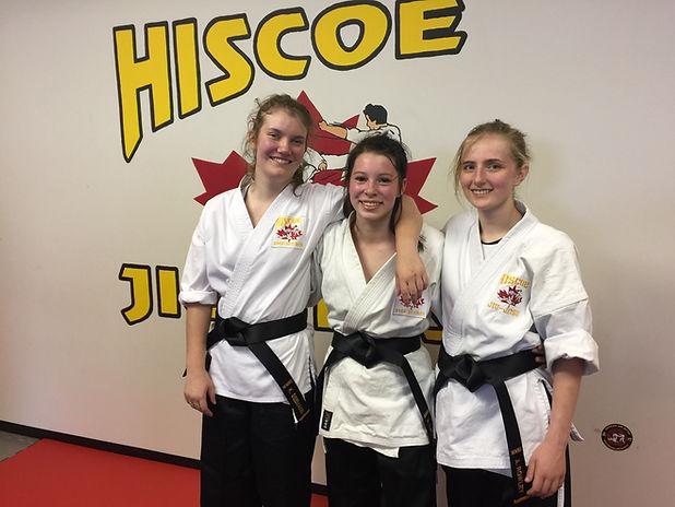 Hiscoe Jiu-Jitsu female student black belts