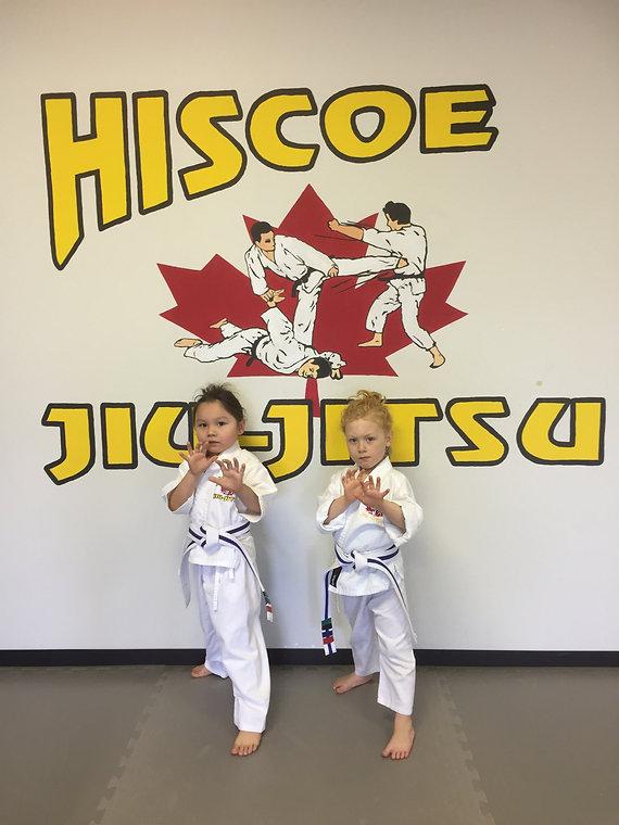 two young hiscoe Jiu-Jitsu students